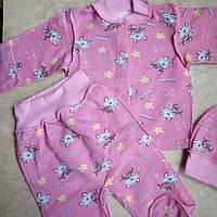 Набор комплект с шапочкой детский теплый  для новорожденного, фото 1