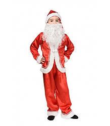 Детский карнавальный костюм ДЕДА МОРОЗА на 4,5,6,7,8,9 лет, новогодний костюм, СВЯТОЙ НИКОЛАЙ красный
