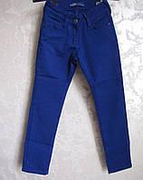 Цветные коттоновые брюки на девочек  Электрик