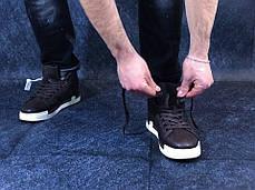 "Зимние кроссовки на флисе Nike Blazer Mid ""Brown"" (Коричневые), фото 3"