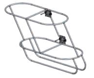 Нержавеющая палубная корзина для кранцев с наклоном влево