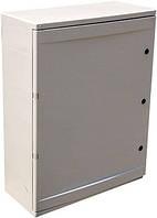 Шкаф ударопрочный из АБС-пластика e.plbox.400.500.175.54m.blank, 400х500х175мм, IP65 с панелью под 54 модуля