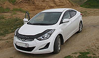 Дефлектор капота (мухобойка) Hyundai Elantra 2011- /длинный