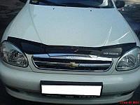 Дефлектор капота (мухобойка) Chevrolet Lanos 2005-