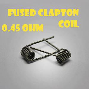 Fused Clapton coil Готовая спираль0.45 ohm пара