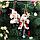 Дед Мороз Санта Клаус 20 см в белой шубке новогоднее украшение, фото 5