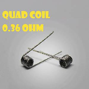 Quad coil Готовая спираль0.36 ohm пара