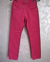 Цветные брюки на девочек  Яркая малина