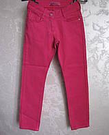 Цветные коттоновые брюки на девочек 122,128,134 роста Малина