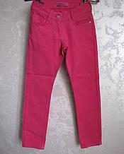 Цветные коттоновые брюки на девочек 128,134 роста Малина