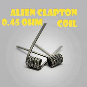 Alien Clapton coil Готовая спираль0.45 ohm пара