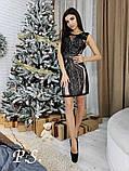 Женское шикарное платье расшитое блестящей паеткой, фото 2