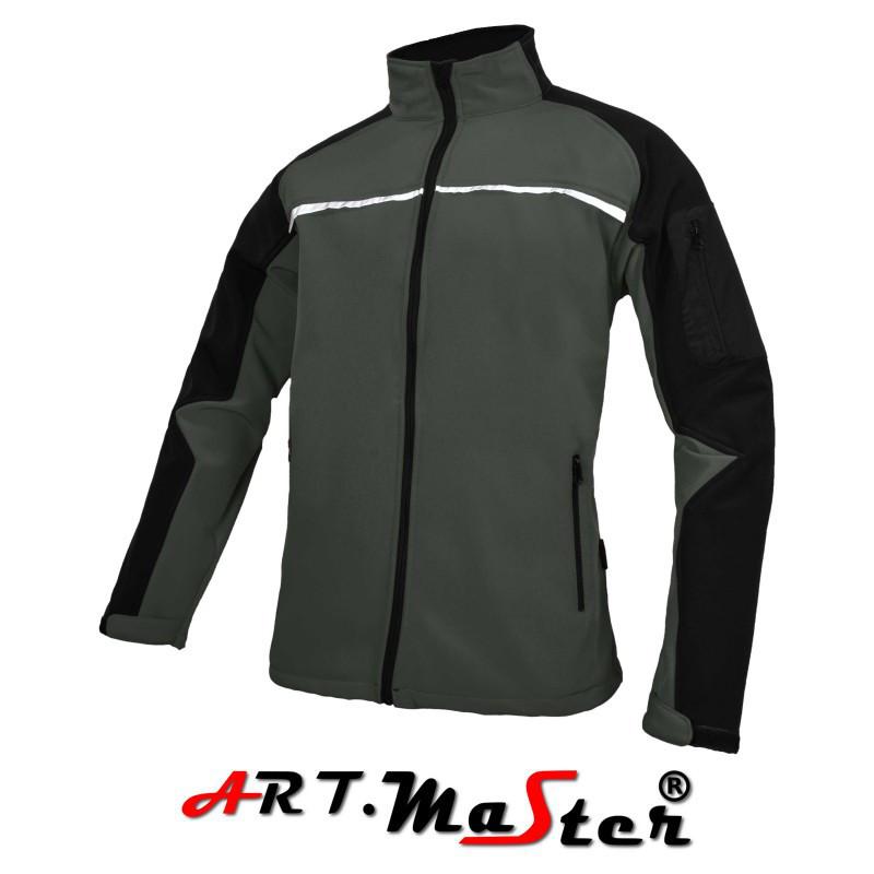 Куртка защитная  ARTMAS серого цвета Kurtka Softshell PROF Grey