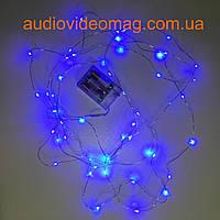 Гирлянда для декора с питанием от батареек, цвет синий, 3 метра, 30 светодиодов , фото 1