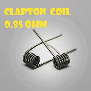 Clapton coil Готовая спираль0.85 ohm пара