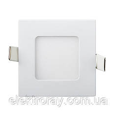 Светодиодный светильник Down Light Metal 3W 4200k квадратный точечный