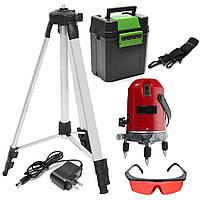 Профессиональный лазерный уровень 5 линий 6 точек 120 см без бокса (sp4009)
