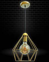 Светильник потолочный подвесной NL 0537 Electropark Е-27 Лофт золотой