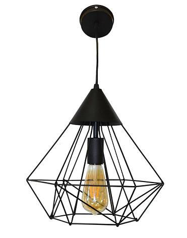 Светильник потолочный подвесной NL 0538 Electropark Е-27 Лофт черный, фото 2