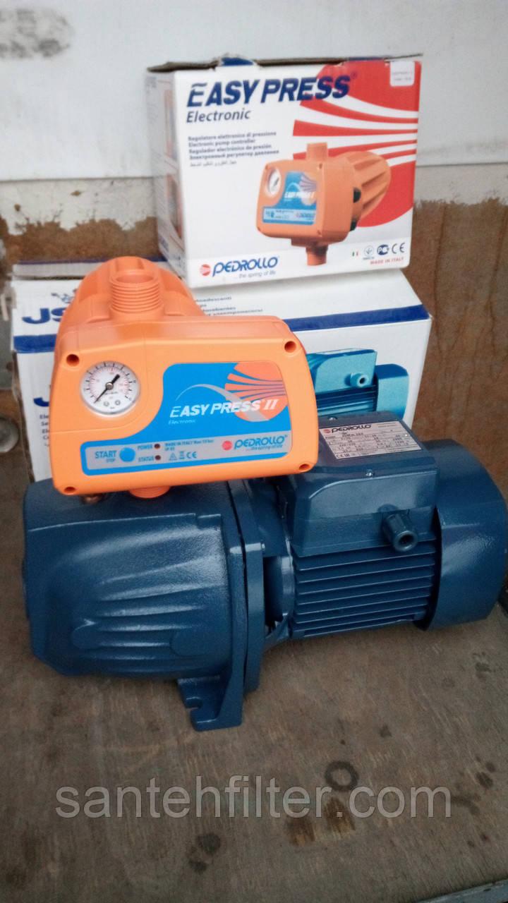 Насосная станция Pedrollo JSW 2AX 1.1 кВт с регулятором давления Pedrollo Easy Press 2 Педролло Изи Прес 2