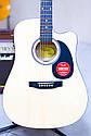 Електроакустична гітара Fender Squier SA-105CE Nat + кабель 3м, фото 3