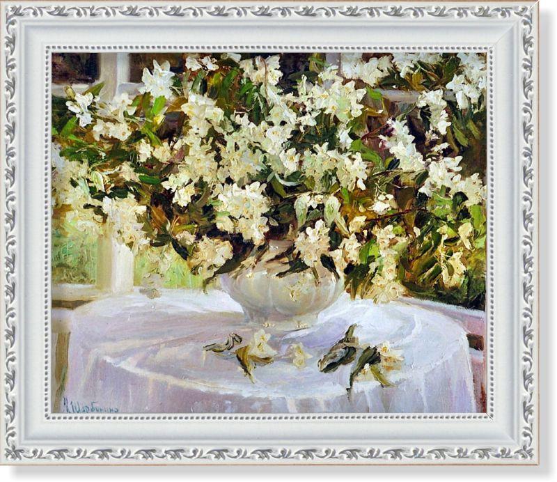 Репродукция  современной картины  «Белые жемчужные»