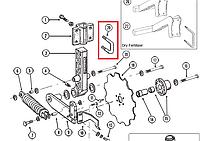 GD13287 U-болт стальной, стремянка, для сеялки Kinze 3600