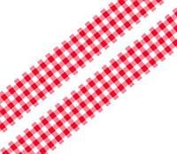 Лента клетчатая красная 25 мм