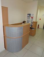 Стойка ресепшн офисная с тумбами (офисная мебель под заказ в Киеве) (R-16)