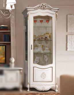 Шкаф- витрина левая Аллегро-3 СлонимМебель бежевая эмаль