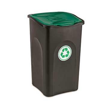 Мусорный бак Stefanplast Ecogreen bin 50 л зеленый