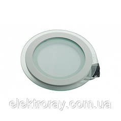 Светодиодный светильник Glass Rim Metal 6W 4200k круглый, стекло, точечный