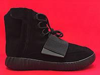 Кроссовки Adidas Yeezy Boost 750 Full Black, фото 1