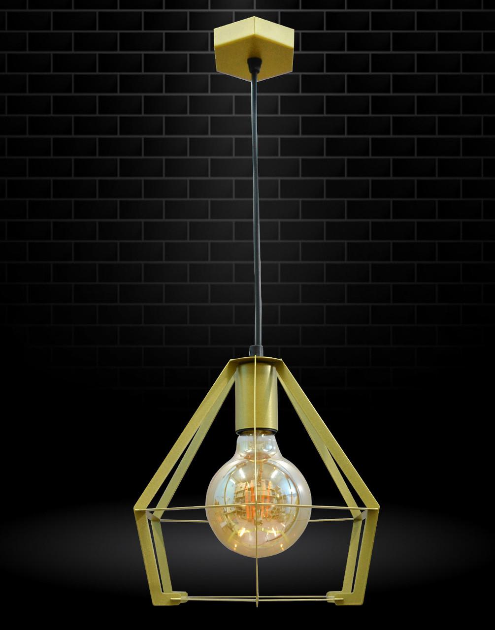 Светильник потолочный подвесной NL 0637 G 100lamp Е-27 Лофт золотой