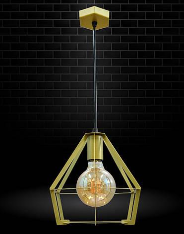 Светильник потолочный подвесной NL 0637 G 100lamp Е-27 Лофт золотой, фото 2
