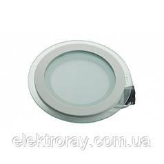 Светодиодный светильник Glass Rim Metal 12W 4200k круглый стекло точечный