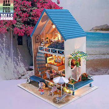 DIY House интерьерный 3D-конструктор Romantic 13830 + LED подсветка 41*34*28см