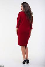Женское платье демисезонное цвет-марсаловый размеры: 48-50,52-54, фото 3