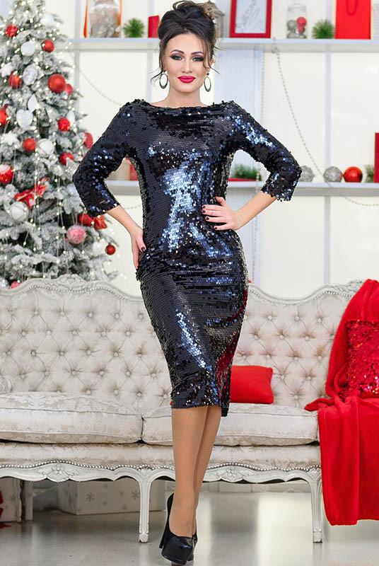 Черное коктейльное платье Франсис