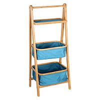 Складная полка из бамбука для ванной комнаты, стеллаж с полками, полка с контейнерами для ванной                     комнаты, полка из бамбука, мебель