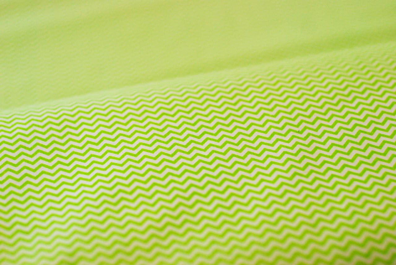 "Ткань бязь 100% хлопок ""Зигзаг зеленый"", 160 см"