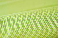 "Ткань бязь 100% хлопок ""Зигзаг зеленый"", 160 см, фото 1"