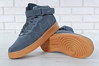 Мужские зимние кроссовки в стиле Nike Air Force | На Меху, фото 1