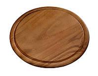 Круглая разделочная доска из дерева акации, деревянная разделочная доска, круглая доска, Kesper