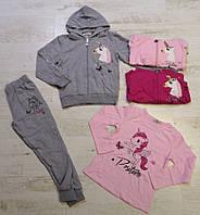 Трикотажный костюм-тройка для девочек оптом, Seagull, 4-12 лет, арт. CSQ-52129