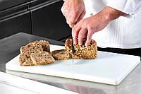 Разделочная доска белого цвета, соответствует требованиям HACCP, пластиковая разделочная доска,                     кухонная доска, доска для