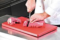 Разделочная доска красного цвета, соответствует требованиям HACCP, пластиковая разделочная доска,                     кухонная доска, доска для