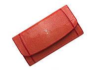 Кошелек женский Ekzotic Leather из натуральной кожи морского ската Красный (stw 116)
