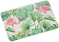 Декоративная разделочная доска из бамбуковых волокон, прямоугольная доска для резки с рисунком                     фламинго, доска для сервировки,