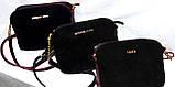 Брендовые клатчи из нат.замша на 3отд. Zara (3 цвета)18*22см , фото 2